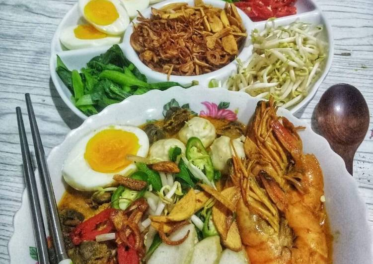 Cara Mudah Masak: 🍝 Mee Curry Kerang & Udang 🍝  2021