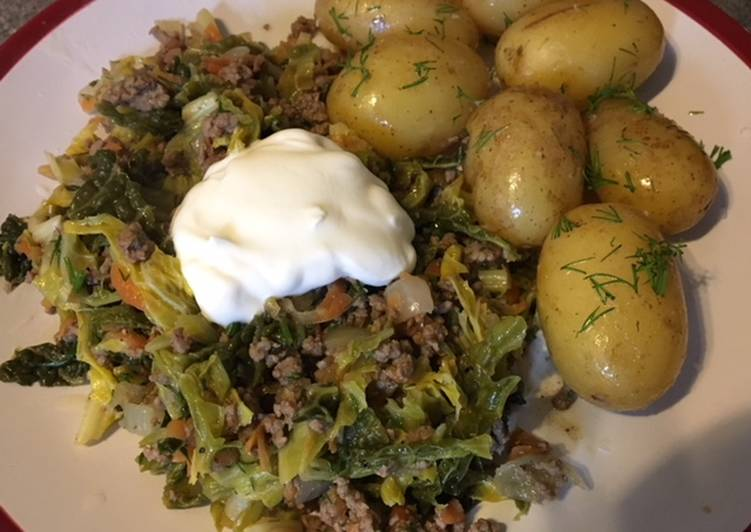 Mince and cabbage stew