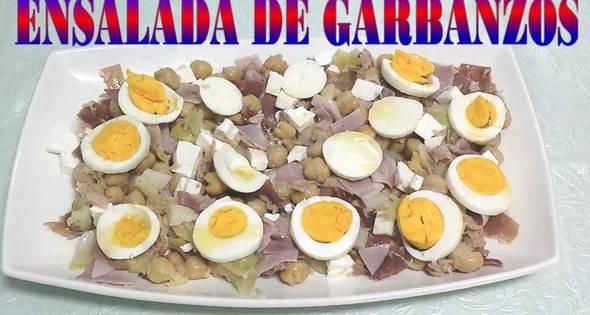 Ensalada De Garbanzos (Rápida)