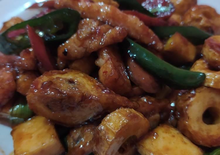 seafood saus lada hitam foto resep utama