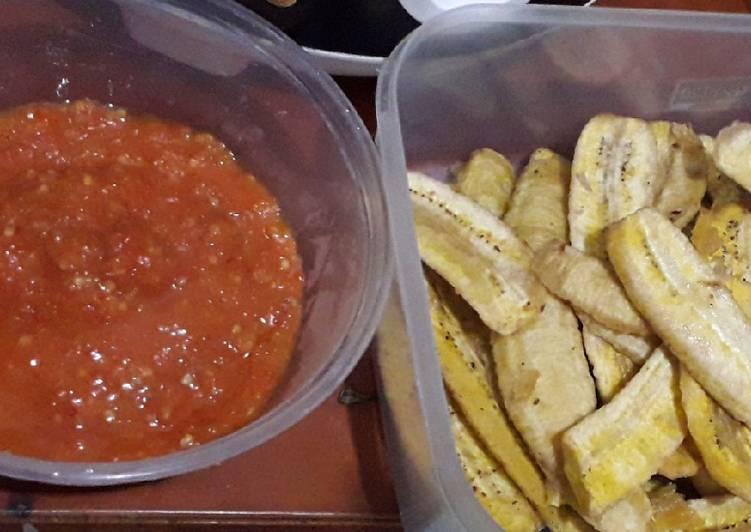 Pisang goreng sambal khas Ambon