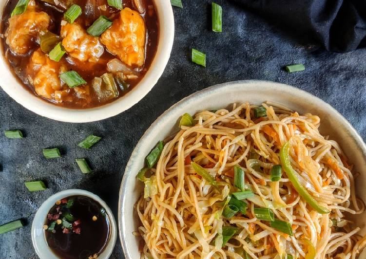 The Best Soft and Chewy Dinner Ideas Quick Veg noodles with chicken Manchurian