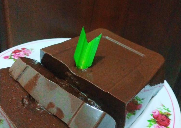 Puding lumer cokelat mousse