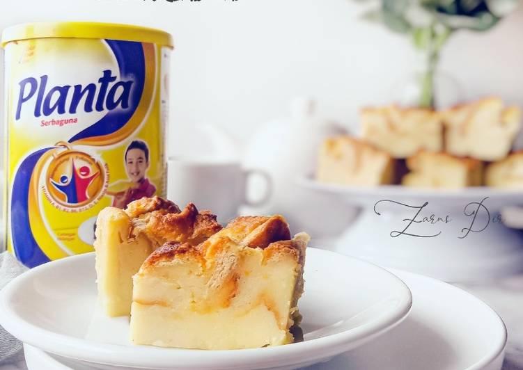 Resepi:  Bingka Roti Planta Simple