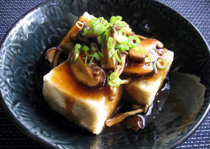 Agedashi Tofu Mushroom Sauce