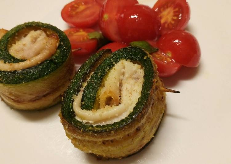 Recipe of Any-night-of-the-week Involtini di zucchine e spada courgette and swordfish rolls