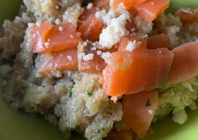 Risotto de Quinoa au courgette et saumon au Thermomix