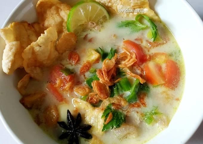 Soto kuning kikil (fiber cream)
