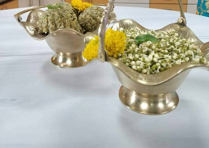 Moong sprouts laddu