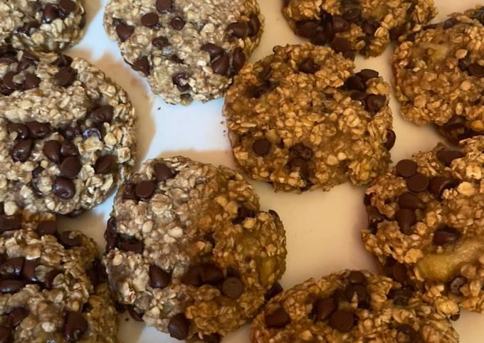 Banana Oatmeal Breakfast Cookies  3-Ingredient