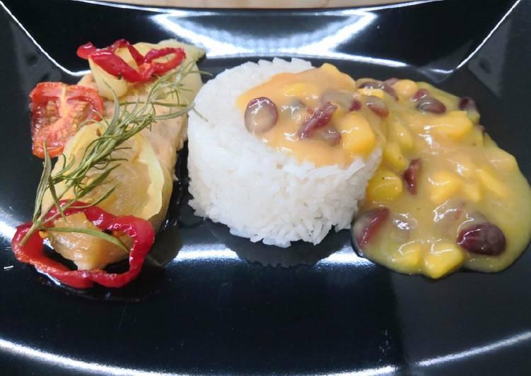 Gluténmentes, aszalt áfonyás mangó szósz recept foto
