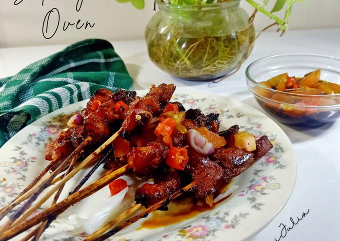 Resep Sate Ayam Oven, Lezat Sekali