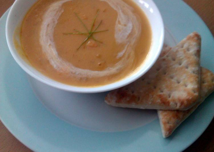 Recipe of Favorite Vickys Creamy Yellow Pea and Ham Soup, GF DF EF SF NF