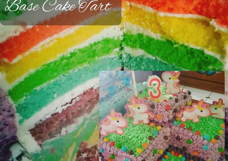 Resep Rainbow Cake (Base Cake Tart) Favorit