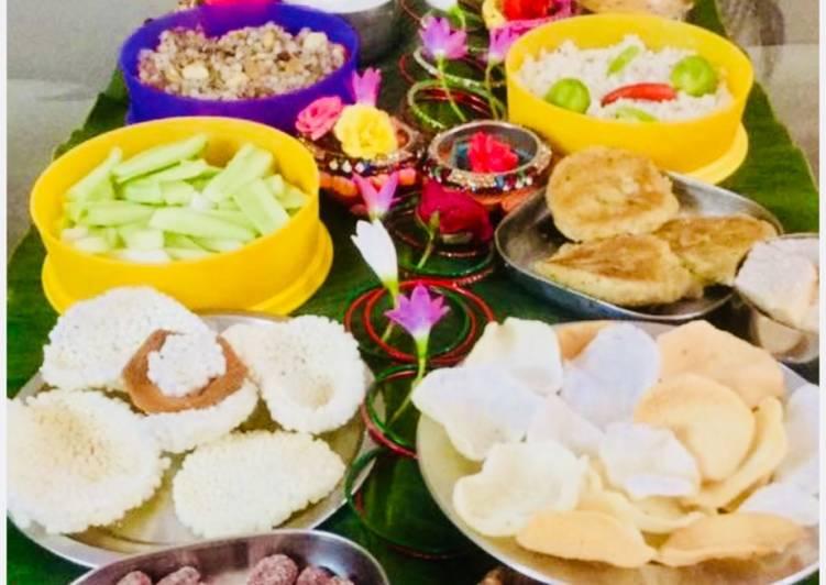 5 Minute Recipe of Spring Samak Rice Pullav,Aloo-Samak Rice tikki,Sabudana-Khichdi,Falahari Aloo,sugar coated Almonds,Papads
