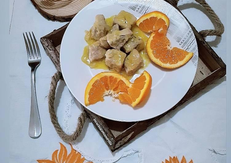Ricetta Bocconcini di maiale all'arancia 🍊