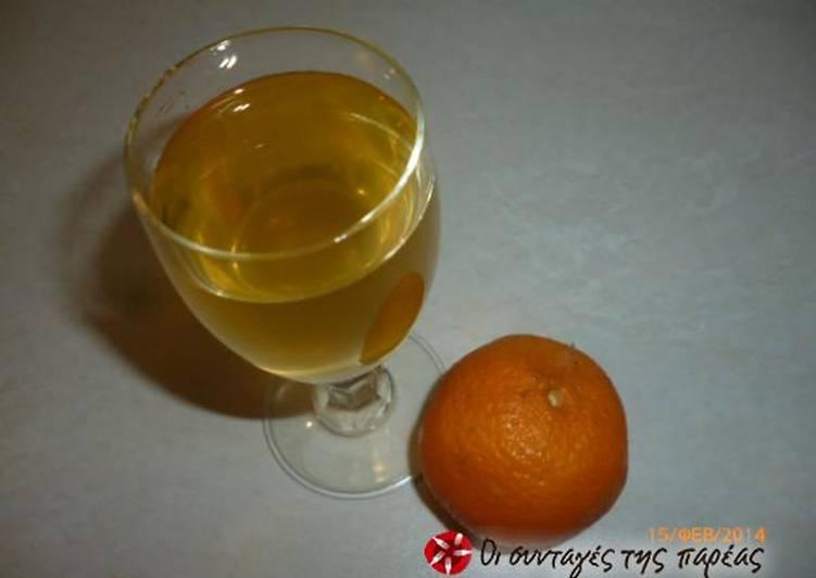 Quick tangerine liqueur