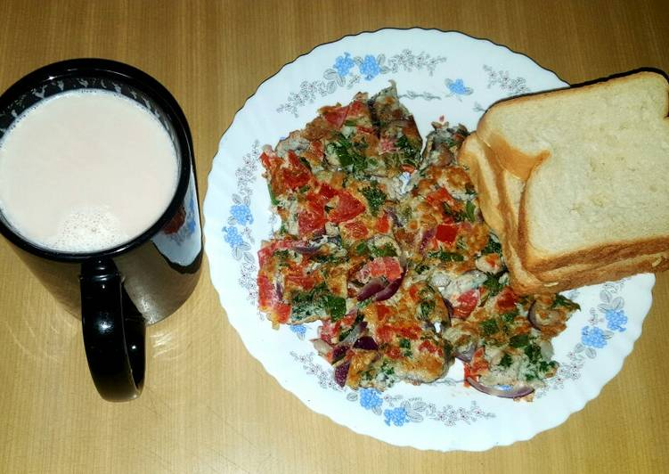 Recipe of Any-night-of-the-week Breakfast spanish omelette with bread