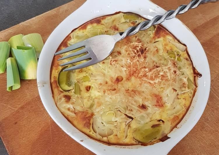 Recette Parfait Flan de poireaux au fromage
