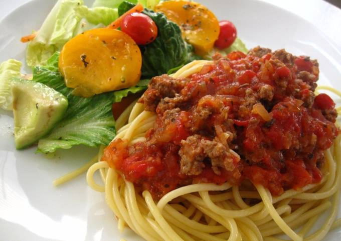 Recipe: Yummy Kid-Friendly Meat Sauce for Pasta