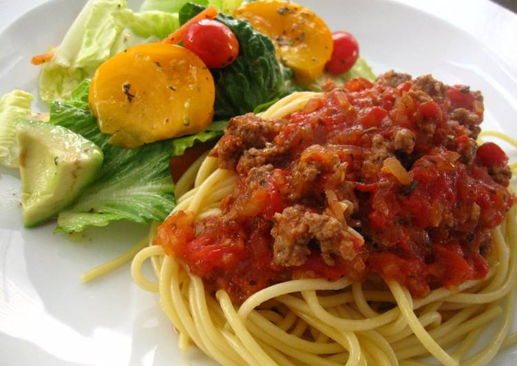 Recipe: Perfect Kid-Friendly Meat Sauce for Pasta