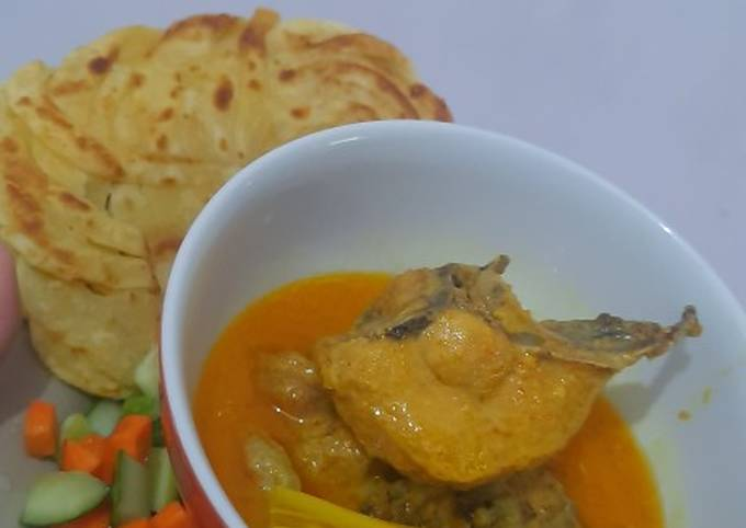 Resep Kari ayam + roti canai yang Lezat