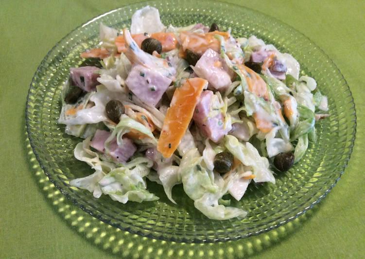 Salade fraîche à la mimolette et au jambon