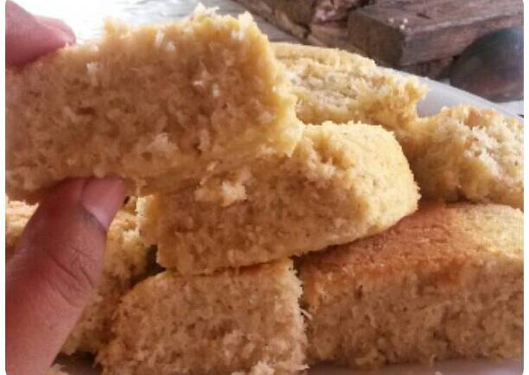 Cake bolu kelapa parut hemat nikmat