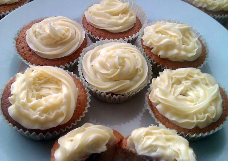 Recipe of Top-Rated Vickys Jam & Custard Cupcakes, GF DF EF SF NF