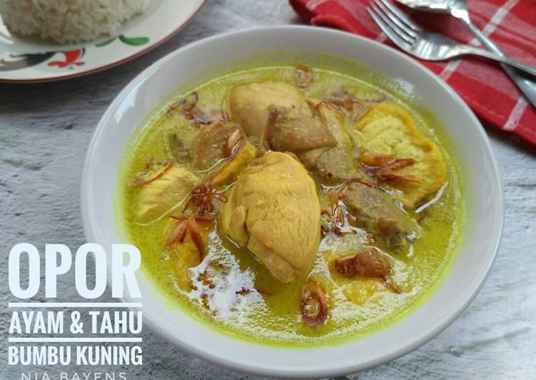 Cara Gampang Membuat Opor ayam & tahu bumbu kuning (#Bandung_recookConySeptiani) Anti Gagal