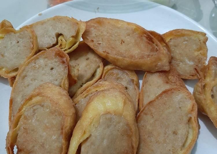 Egg Chicken Roll & Salad ala Hokben