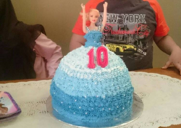 Resep Kue Ultah Barbie Oleh Naura Atika Cookpad