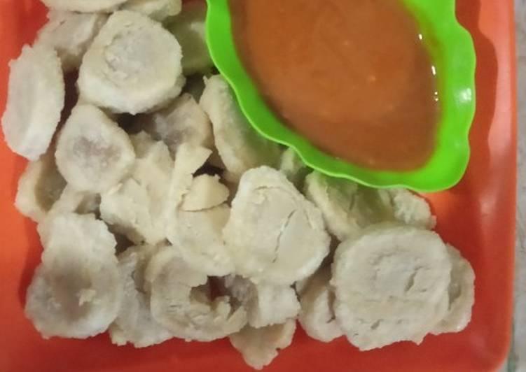 Cireng Koin (Jajanan SD) plus saos sambal endulita