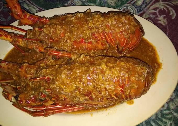 Lobster saus padang#siap ramadan