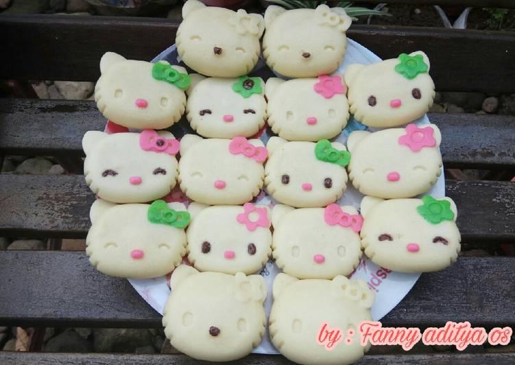 Bagaimana Membuat Bolu kukus Hello Kitty yang Lezat Sekali