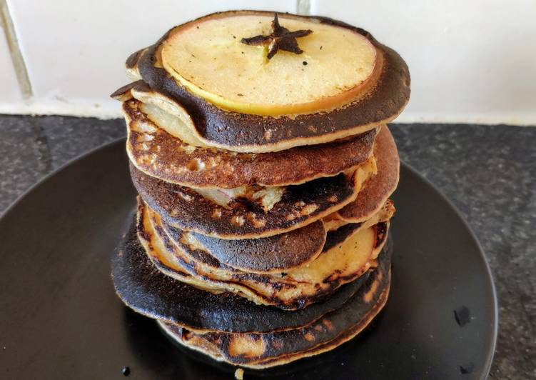 Comment faire Préparer Délicieuse Pancakes aux pommes (vegan)