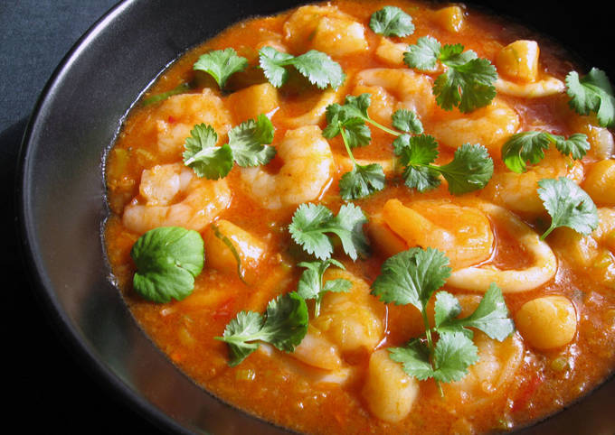 Seafood With Sweet Chilli Sauce