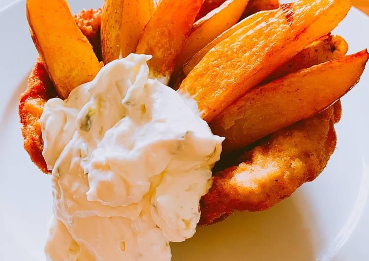 Kartoffelecken im Schnitzelkorb