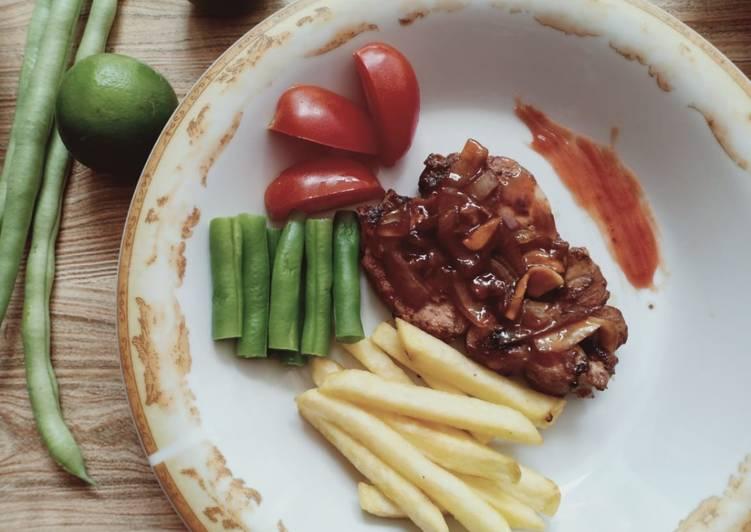 Steak ikan marlin saus barbeque