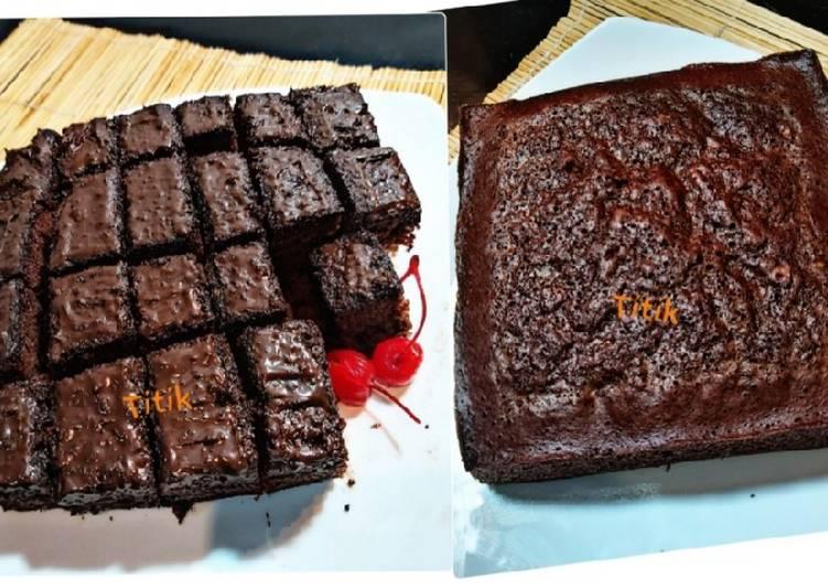 Brownies kukus chocolatos tanpa mixer,tanpa oven, takaran sendok