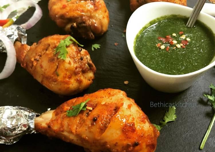 Grilled Achari Garlic Chicken