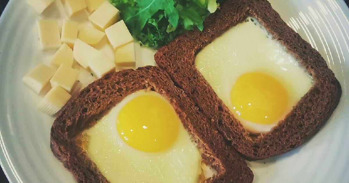 Яичница в белом хлебе рецепт с фото