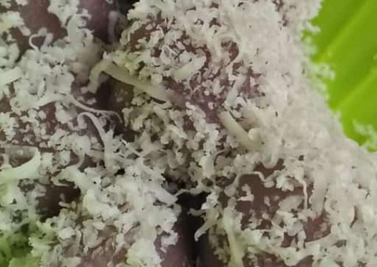 Resep Klepon ubi ungu + keju