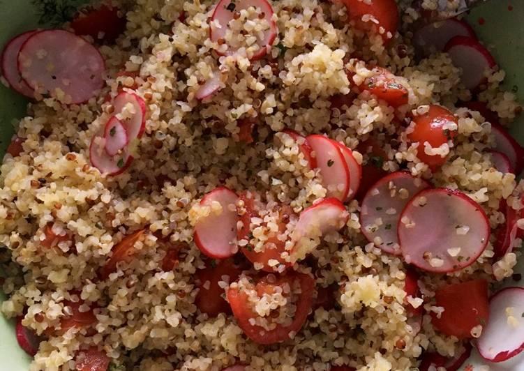 Salade de quinoa, tomates et radis