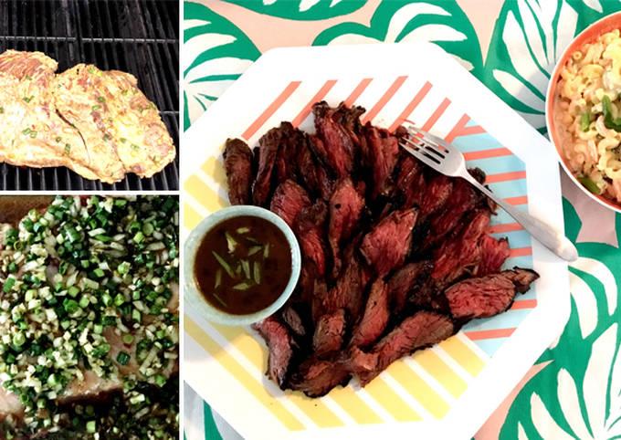 Recipe of Perfect Hawaiian Style Marinated Wagyu Beef Sirloin Bavette Steak