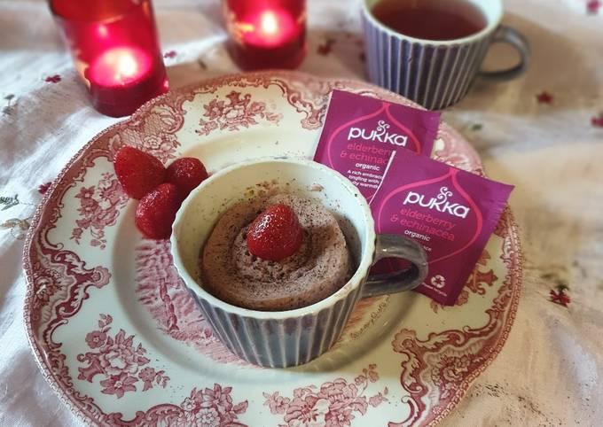 Mugcake fraises et açai