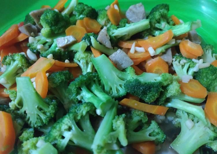 Brokoli cah wortel saus tiram