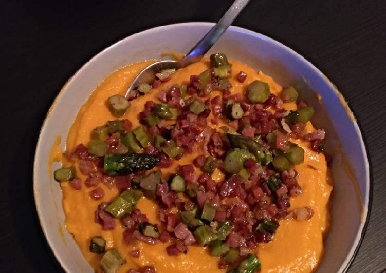 Recipe of Ultimate Sweet Potato cream with ham&asparagus