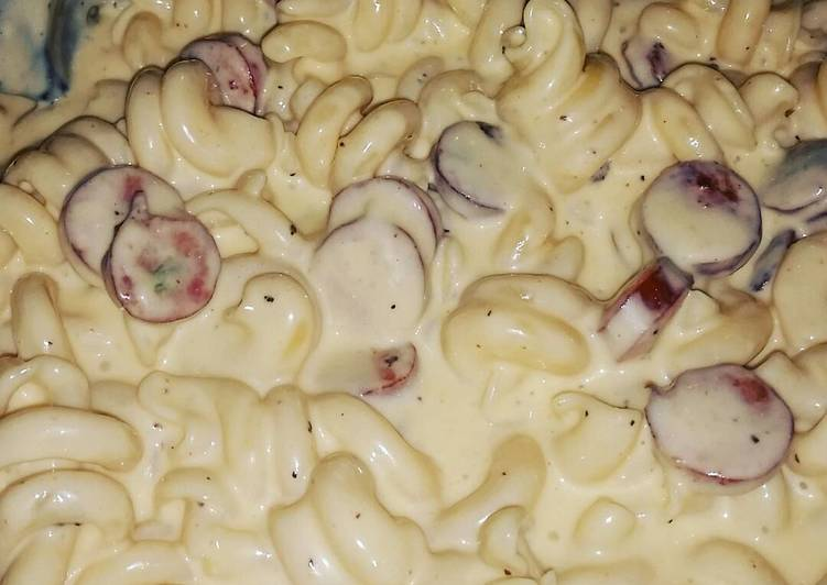 Recipe of Creamy Five Cheese Mac and Sausage
