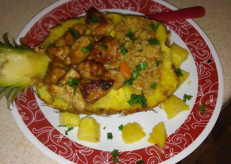 Teriyaki chicken pineapple bowl